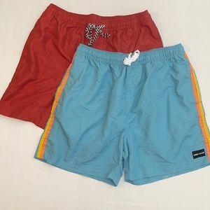 Quicksilver Volley Shorts Men's Lot 📦 of 2